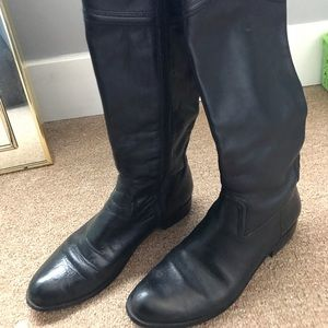 Corso Como Black leather boots size 6.5-7.5
